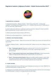 Regulamin konkursu - Wiadomości Kosmetyczne