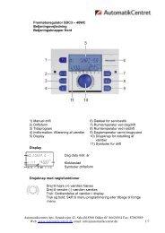 Universal regulator SDC - brugsvejledning over ... - Automatikcentret