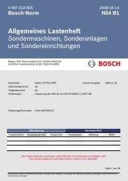 Allgemeines Lastenheft Sondermaschinen, Sonderanlagen und ...