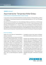 Asymmetrischer Temperaturfühler-Einbau - Zenner