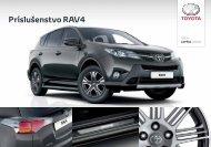 Katalog príslušenstva RAV4 - Toyota