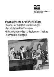 Psychiatrische Krankheitsbilder - Hilfe für psychisch Kranke e. V ...
