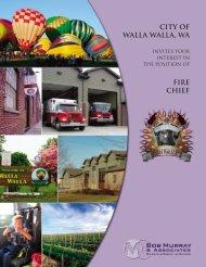 CITY OF WALLA WALLA, WA FIRE CHIEF - Bob Murray & Associates