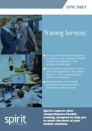Training Services Brochure - Spirit Data Capture