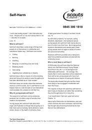 Self-Harm - ScoutBase UK