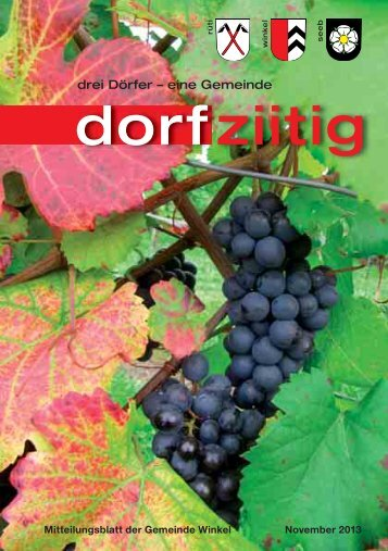 Dorfziitig November 2013 - Gemeinde Winkel
