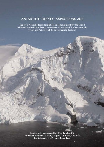 Antarctic Treaty Inspections 2005 - Antarctic Treaty Secretariat