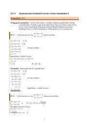 2.3.11 Soustavy dvou lineárních rovnic o dvou neznámých II
