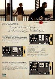 Lodge Zimmerpläne (PDF - 1,6 Mb) - St. Martins Therme und Lodge