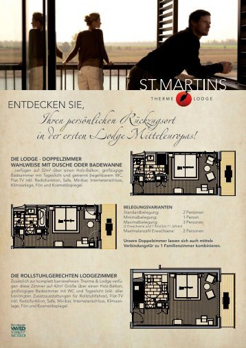 Lodge Zimmerpläne (PDF - 1,6 Mb) - St. Martins Therme und Lodge