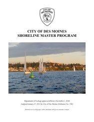 CITY OF DES MOINES SHORELINE MASTER PROGRAM