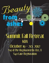 fall retreat flyers - Summit Camps