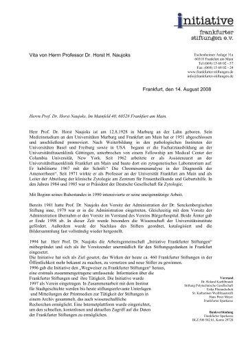 Vita Prof. Naujoks zum Download - Initiative Frankfurter Stiftungen eV