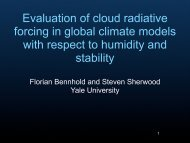 Evaluation of cloud radiative forcing in global climate models with ...