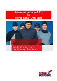 Seminarprogramm 2010 für Kompetenz-PARTNER - Windhager
