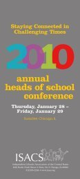 annual heads of school conference - isacs