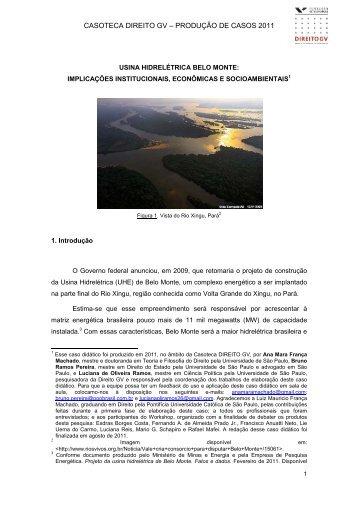 Belo Monte - Narrativa - Escola de Direito de São Paulo