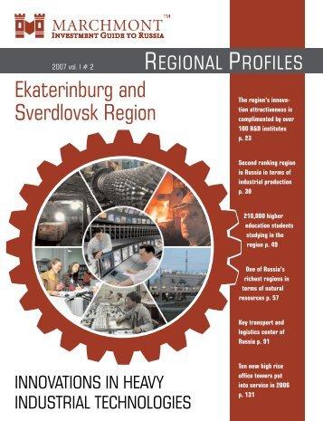 ekaterinburg and sverdlovsk region - Marchmont Capital Partners