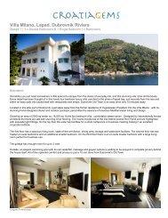 Villa Milano, Lapad, Dubrovnik Riviera - CroatiaGems