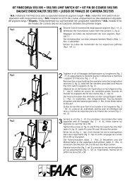 kit finecorsa 593/595 • 593/595 limit switch kit • kit fin de course 593 ...