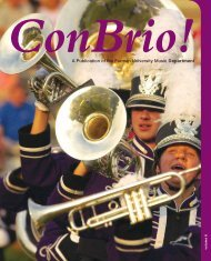A Publication of the Furman University Music Department