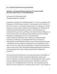 Stiftungen und bürgerschaftliches Engagement in Frankfurt am Main