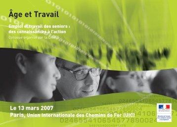Programme du colloque Âge & Travail (pdf - 245.7 - Ministère du ...