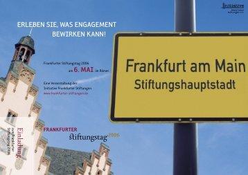Programm zum Download - Initiative Frankfurter Stiftungen eV