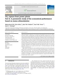 CO2 capture from power plants Part II. A parametric study of ... - ITM