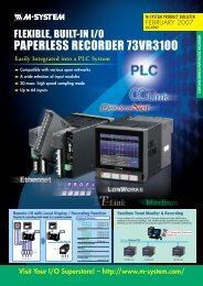 PAPERLESS RECORDER 73VR3100 - M-System