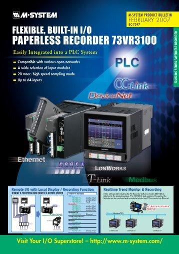 PAPERLESS RECORDER 73VR3100 - M-System