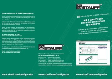 Flyer Online-Konfigurator für STAUFF Sonderschellen