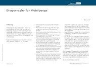 Brugerregler for Mobilpenge (pdf) - Danske Bank