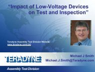"""""""Impact of Low-Voltage Devices on Test and Inspection"""" - Teradyne"""