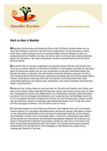 Hoch zu Ross in Namibia