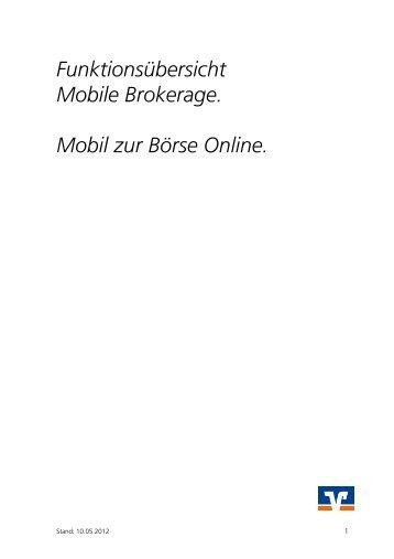Mobile Brokerage - Frankfurter Volksbank eg
