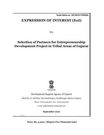 EXPRESSION OF INTEREST (EoI) - Vanbandhu Kalyan Yojana ...