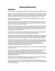 ARIZONA CALENDAR OF EVENTS AUGUST 2003 8/1/2003 First ...