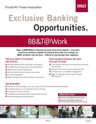 Exclusive Banking Opportunities. - Florida RV Trade Association