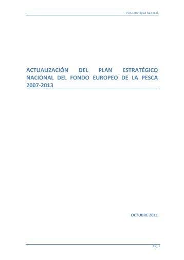 Plan Estratégico Nacional - Confederación Española de Pesca ...