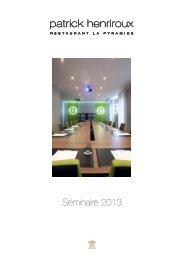 Séminaire 2013 - Hôtel La Pyramide