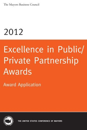 Excellence in Public/ Private Partnership Awards - U.S. Conference ...