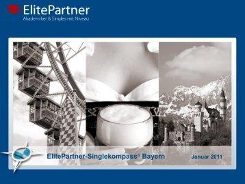 Zum ElitePartner-Singlekompass © Bayern Januar 2011