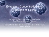 Extraction, Concentration and Detection of Toxins