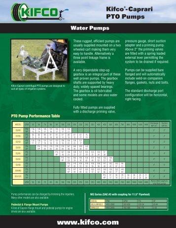 Kifco®- Caprari PTO Pumps Water Pumps