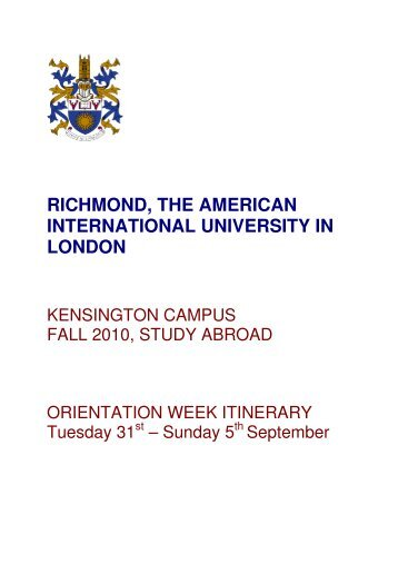 Richmond - The American International University in London