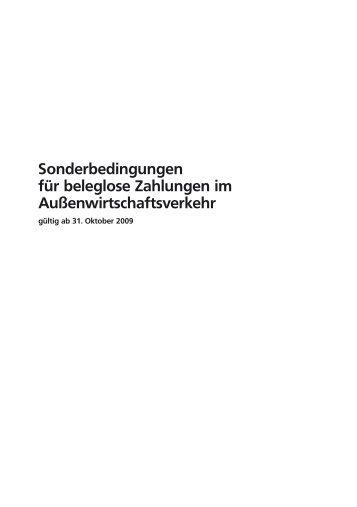 Sonderbedingungen für beleglose Zahlungen im - Frankfurter ...