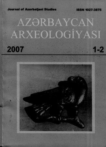 Journal of Azerbaijani Studies ISSN 1027-3875 - DSpace at Khazar ...