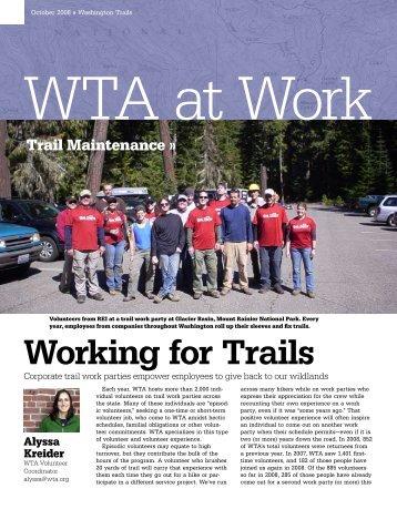 Working for Trails - Washington Trails Association