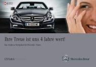 Ihre Treue ist uns 4 Jahre wert! - Mercedes Benz